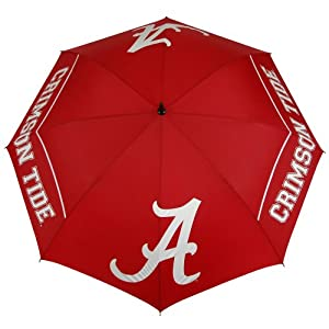 NCAA Alabama Crimson Tide 62-Inch WindSheer Hybrid Umbrella by Team Effort