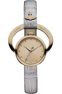 Vivienne Westwood Women's VV082RSGY Horseshoe Analog Display Swiss Quartz Grey Watch