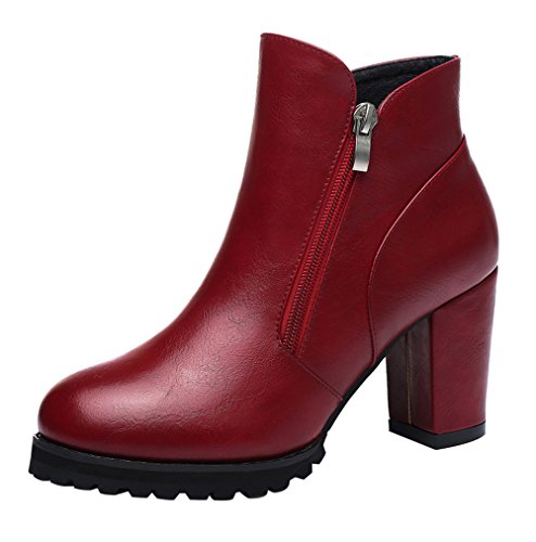 fq-real-womens-fashion-side-zipper-chunky-heel-waterproof-platform-ankle-booties-45-ukred