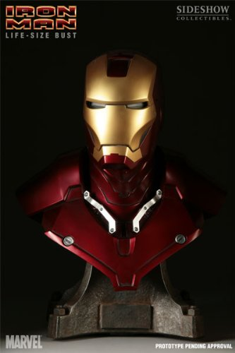Buy Low Price Sideshow Iron Man Life Size 1:1 Scale Bust Figure (B001VIVJB4)