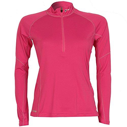 Womens Berghaus Womens Zip Neck Technical T-Shirt in Pink - 14