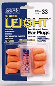 Howard Leight Super Leight Earplugs Without Cord NRR33 - 100 pair Orange