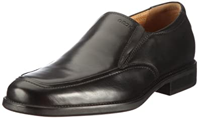 健乐士会呼吸的鞋Geox Men's Mfederico9 Shoe 男士真皮商务休闲鞋黑折后$87.46