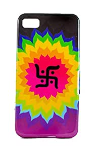 Purple Eyes Exclusive Printed TPU Silicon Back case Blackberry Z10 Swastik