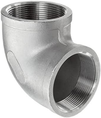 Stainless Steel 304 Cast Pipe Fitting, 90 Degree Elbow, Class 150, NPT Female