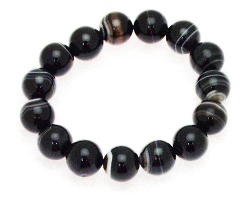 14mm Black Tibet Bangle Type Adjustable Bracelet