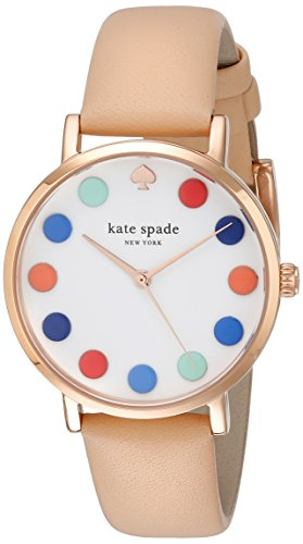 kate-spade-new-york-womens-1yru0735-metro-dot-analog-display-japanese-quartz-beige-watch
