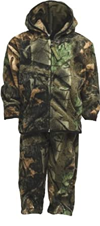 Trailcrest Unisex Toddler Two-Piece Camouflage Jacket and Pants Fleece Set - 2T
