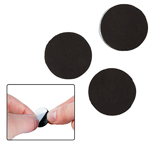 "Round Magnets (100 Pack) 3/4"". Metal. Self-Adhesive Back!"