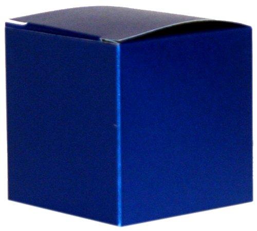 Regal Blau Perlmuttartige Geschenkbox/Kiste, 75 x 75 x 75 mm (7.62 cm)
