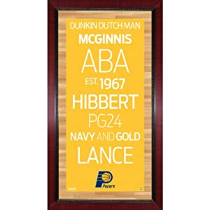 Indiana Pacers Subway Sign Wall Art 16x32 Photo by Steiner+Sports