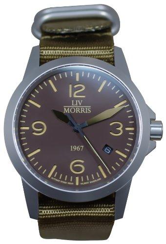 LIV MORRIS 1967 VALBERT No. 3, sportliche Herrenuhr, Ø 42mm, feine Automatikuhr, massiv Edelstahl, Saphirglas, 10BAR wasserdicht, mechanisches SeaGull-Automatik-Uhrwerk