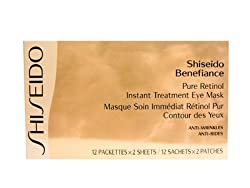 Shiseido Benefiance Pure Retinol Instant Treatment Eye Mask 2 Sheets/12 Patches.