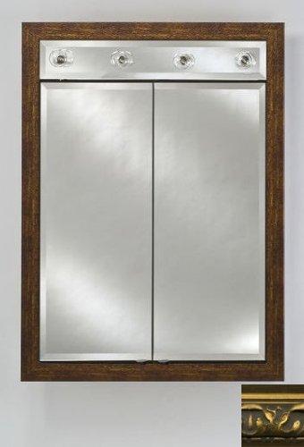 Signature Double Door Medicine Cabinet Lights Finish: Valencia Gold, Size: 24