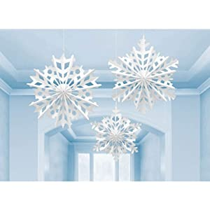 Amazon.com: Snowflake Paper Hanging Decorations: Toys & Games