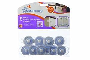 Dreambaby - Juego de seguros multiusos (5 unidades), transparente