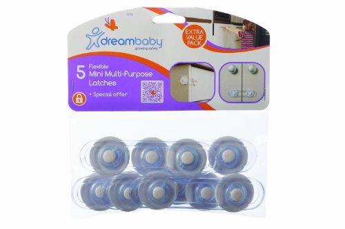 dreambaby-mini-multi-purpose-latches-pack-of-5-transparent