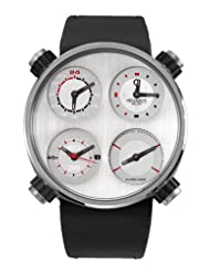Meccaniche Veloci Men's W124N113371016 Automatic Titanium Silver Dial Dual-Time Watch