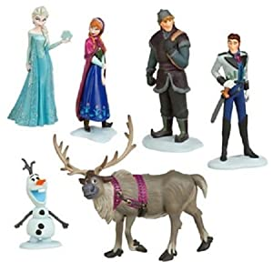 Frozen Figure Play Set Anna Elsa Hans Kristoff Sven Olaf 6 Pcs Set