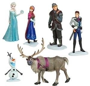 ForeverLogest® Frozen La Reine des neiges Figure portique Anna Elsa Son Kristoff Sven Olaf Set Toy Poupée