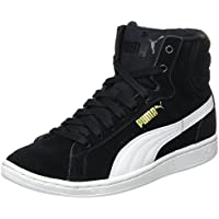 Puma Women's VikkyMid Black and White Sneakers - 8 UK/India (42 EU)