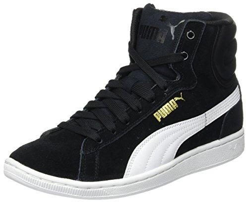 Puma Vikky Mid Wns, Sneaker alta Donna, Nero (Schwarz (black-white 02)), 38