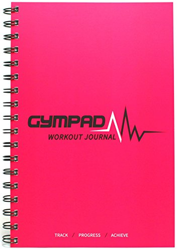 GymPad - Workout Journal (Pink) - Premium Quality Paper (140GSM) - Templates And Resources Designed By Fitness Professionals - Unique, Structured Way To Track Progress And Maximise Your Results!