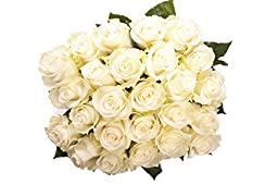 50 Anniversary Farm Fresh White Roses By justFreshRoses