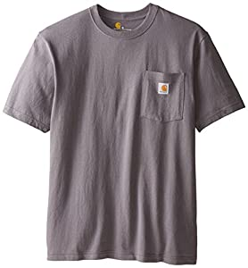 Carhartt Men's  Workwear Pocket Short Sleeve T-Shirt K87, Charcoal, Large