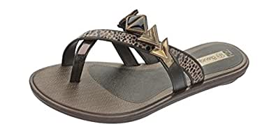 Grendha Glamour Thong femmes Flip Flops / Sandals - noir Snake - SIZE EU 37