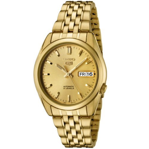 Seiko Men's SNK366K Gold Stainless-Steel Automatic Watch with Gold Dial