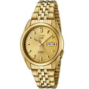 Seiko Men's SNK366K Seiko 5 Automatic Gold Dial Gold-Tone Stainless Steel Watch