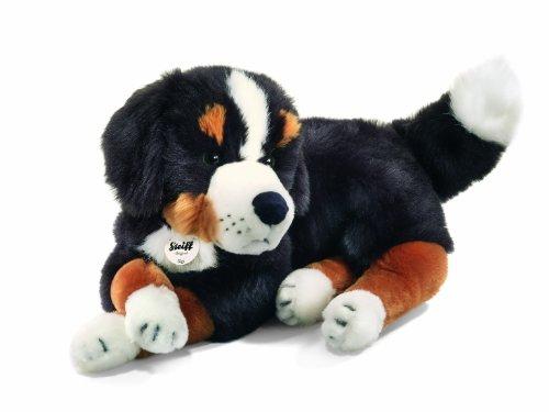 Steiff Sigi Bernese Mountain Dog Plush, Black/Brown/White