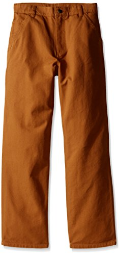Carhartt Big Boys' Adjustable Waist Dungaree Pant, Carhartt Brown, 16