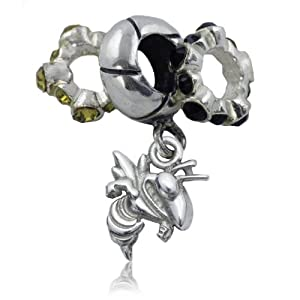 Sterling Silver Georgia Tech Charm Bead Set by Dayna U