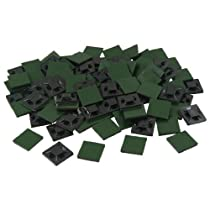 uxcell 100 Pcs 20mm x 20mm x 4mm Self Adhesive Cable Tie Mount Base Holders Black