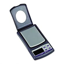 "Salter-Brecknell PB500 Pocket Balance with LCD Display, 3"" Length x 2-25/64"" Width,  500g Capacity"