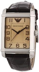Emporio Armani Herren-Armbanduhr Classic Angelo Analog Quarz Leder AR0490