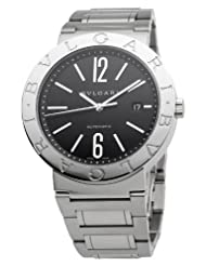 Bvlgari Men's BVLBB42BSSDAUTO Black Dial Watch