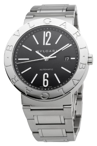 Bvlgari Men's BVLBB42BSSDAUTO Black Dial Watch