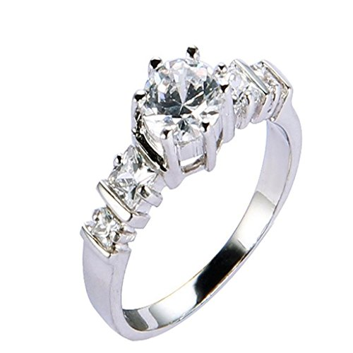 Amdxd Jewelry 18K Gold Plated Women'S Fashion Figure Rings Claws Cz White Us Size 8