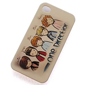 Huaqiang3c British-irish Boy Band One Direction 1d Cartoon Pattern Plastic Hard Rubber Protective Case Cover for Apple Iphone 4 4g 4s by huaqiang3c