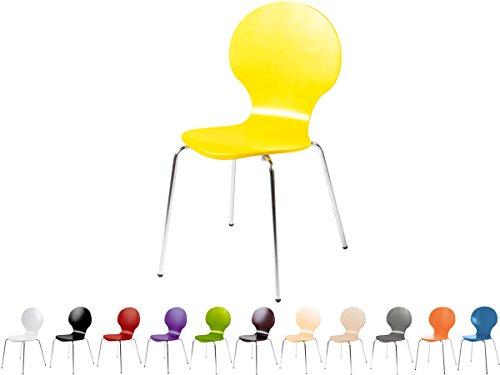 Stapelstuhl-Bistrostuhl-Stuhl-Esszimmerstuhl-Kchenstuhl-Design-Metall-Holz-stapelbar-sehr-belastbar-Marcus-Gelb