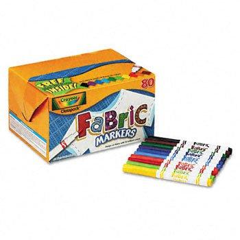 Crayola Fabric Markers Classpack