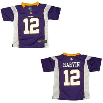 NFL Minnesota Vikings Harvin #12 Boys Athletic Short Sleeve Jersey Shirt by NFL
