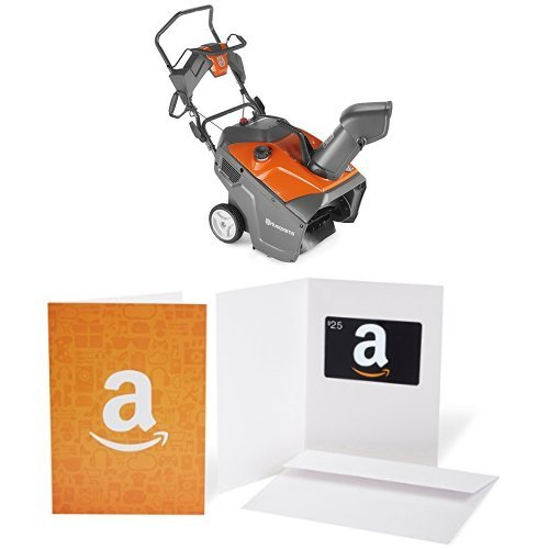 Husqvarna 961830002 136cc Single Stage Snow Thrower, 21-Inch with $25 Gift Card bundle