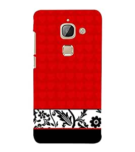 Red Classic Floral Girly 3D Hard Polycarbonate Designer Back Case Cover for LeEco Le Max 2 :: Letv Le Max 2