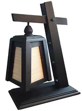 Thai vintage handmade asian oriental handcraft lanna for Oriental wood floor lamp