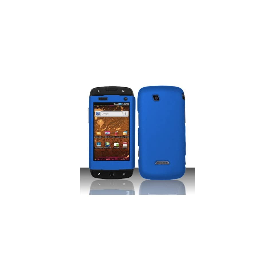 Blue Hard Cover Case for Samsung T Mobile Sidekick 4G SGH T839 Cell Phones & Accessories