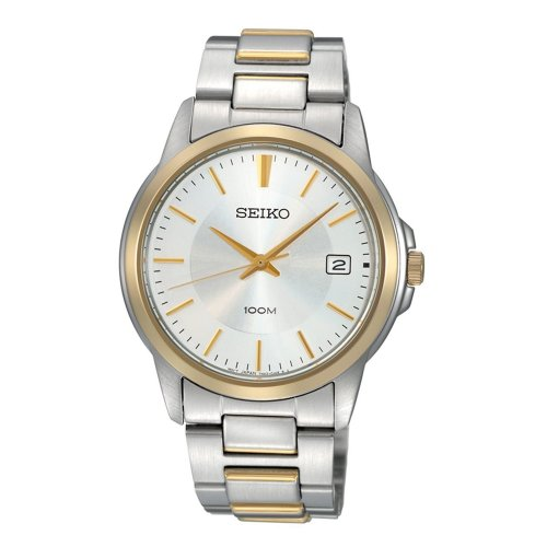 Seiko Men'S Sgef54 Two Tone Stainless Steel Bracelet Watch